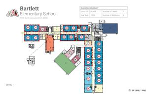 Map of Bartlett Elementary School