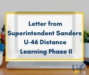 Letter from Superintendent Sanders - March 28, 2020