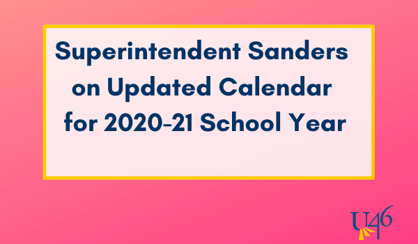 Updated Calendar for the 2020-21 School Year