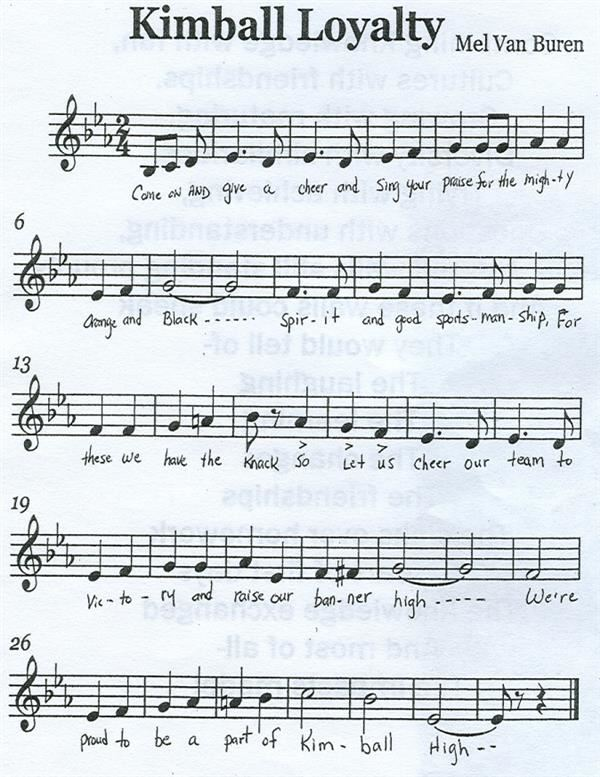Image of Kimball Loyalty Song Sheet Music