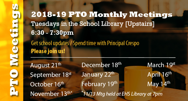 PTO Meetings - Join us!