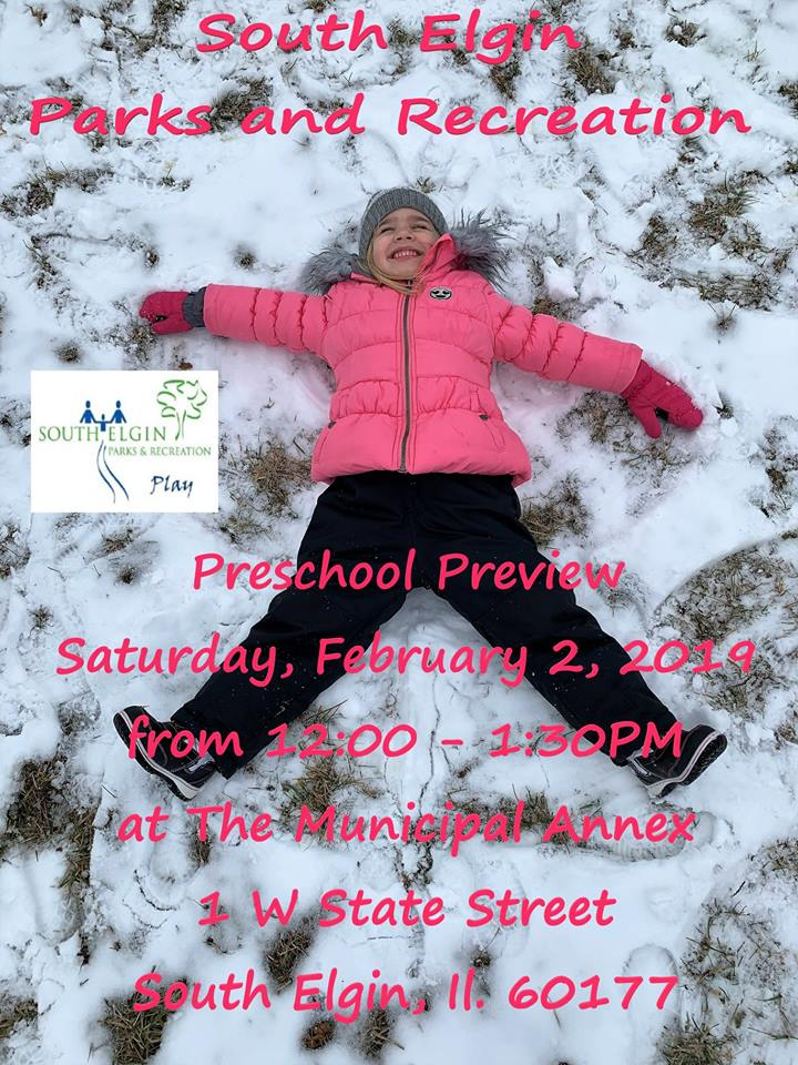 South Elgin Park District Preschool Program