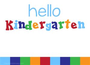 Mathematics / Kindergarten