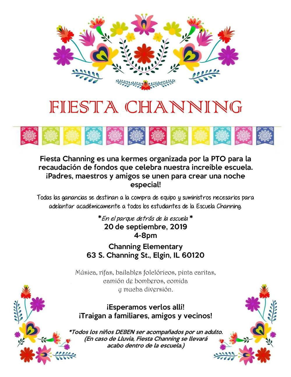 Fiesta Channing Flyer in Spanish