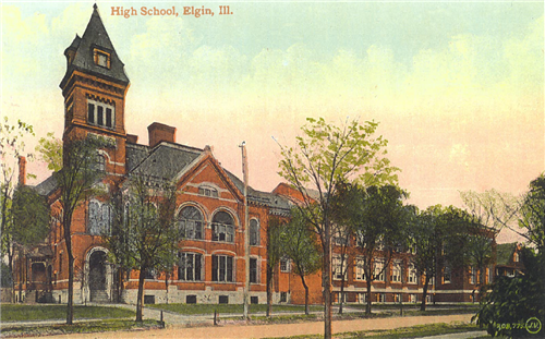 Elgin High School in 1906