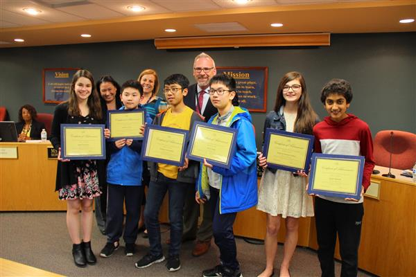 Board of Education Honors U-46 Students for State Achievements