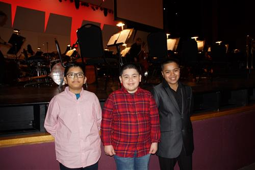 Students from Sunnydale Elementary School at the Elgin Symphony Orchestra