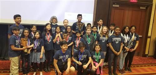 The 2019 Future Problem Solvers Team, coached by Glenbrook Elementary's Ellen Smith