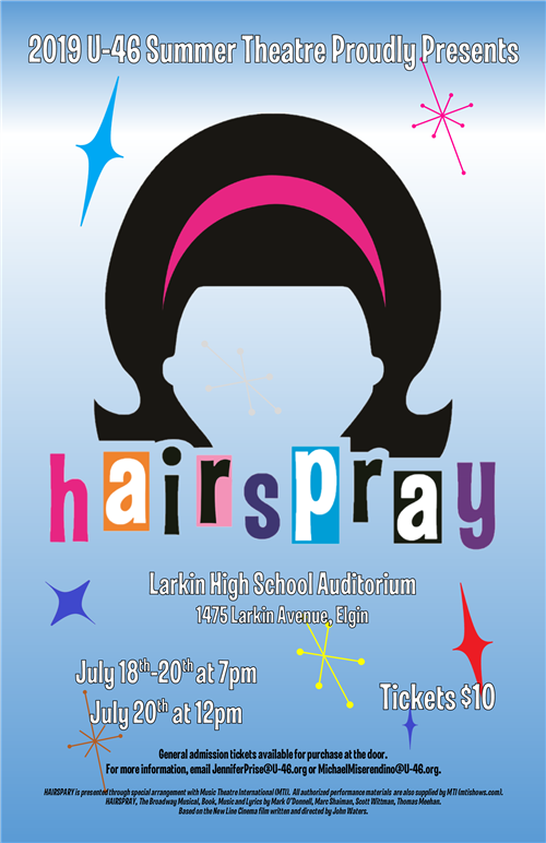 Hairspray Musical Flyer