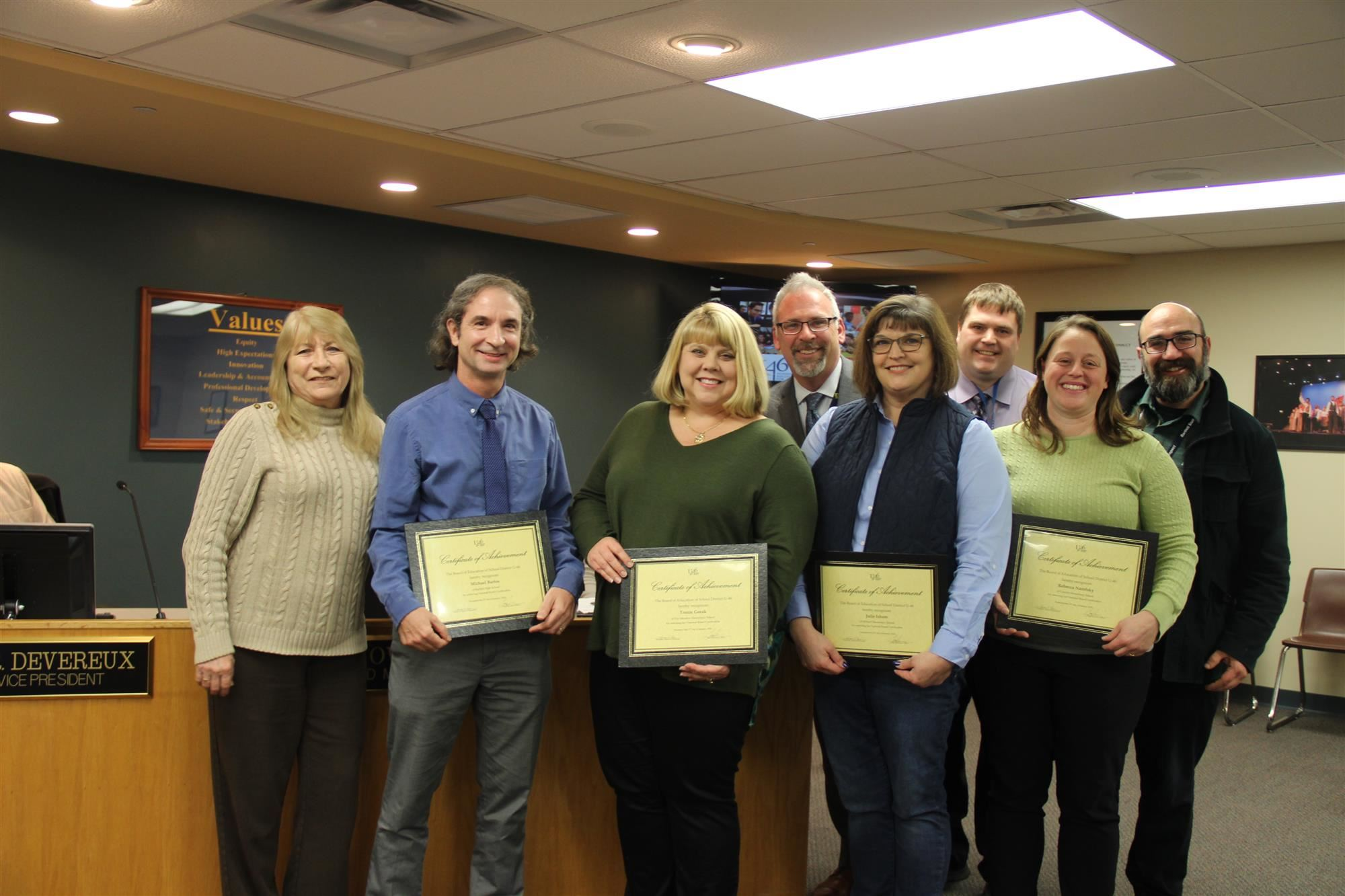 U-46 School Counselors, Board Certified Teachers Honored with Accent on Achievement